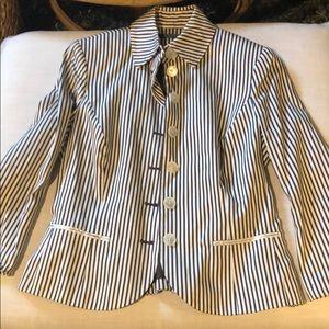 Ralph Lauren brown striped blazer Sz 8